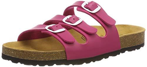 Lico Mädchen Bioline Flache Hausschuhe, Pink Pink, 39 EU