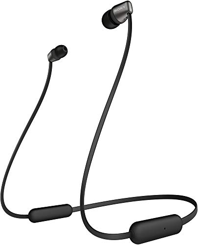 Sony WI-C310 Wireless Bluetooth in-Ear Headphones with Mic, 15 Hours Battery Life, Quick Charge, Magnetic Earbuds, Tangle Free Cord and with 1 Year Warranty – Black