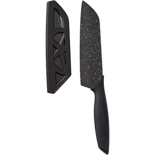 Starfrit 092892-006-0000 The Rock, Sheath Santoku Knife, 16.5&quot, Black