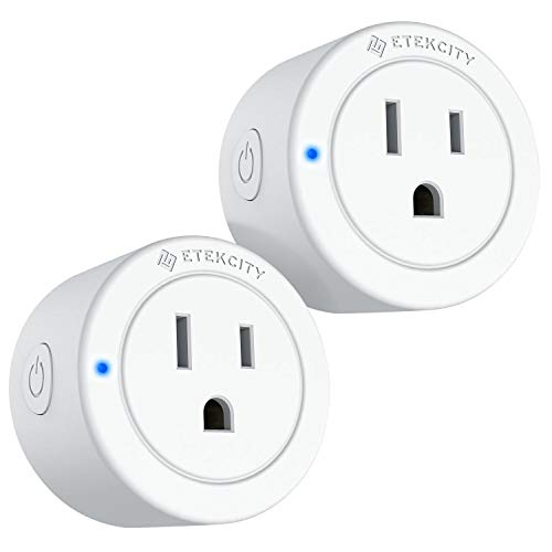 VeSync Smart Plug by Etekcity, 2 Pack Mini WiFi Outlets, Compatible with Alexa, Google Home & IFTTT, Remote Control from Anywhere, Group Control with Schedule Function, No Hub Required, ETL Listed