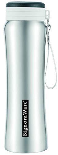 Signoraware Blaze Single Walled Stainless Steel Fridge Water Bottle, 750 ml, Pink