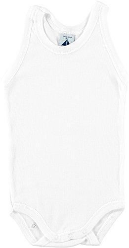 BABIDU 1125 Body Tirante Sport Liso 1x1 Ropa de Bautizo, Blanco (Blanco 1), 56 (Tamaño del Fabricante:1) Unisex bebé