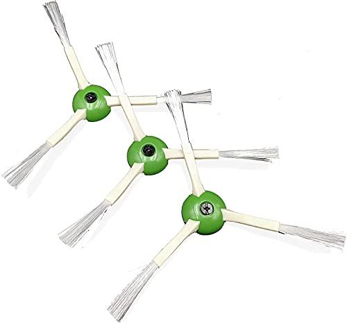 Juego de 3 cepillos laterales Kombi compatibles con iRobot Roomba i7 e5 i7+ e6 i7Plus e7 Serie Aspiradora accesorio de repuesto, cepillos laterales Robot