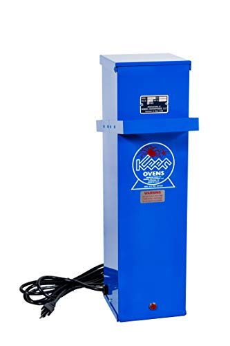 Keen KT-15EC Portable Welding Rod Holding Oven - 120V/240V - 15 lbs. Capacity - with Lid Latch and On/Off Light - Special Economy Version (No Rod Lifter)