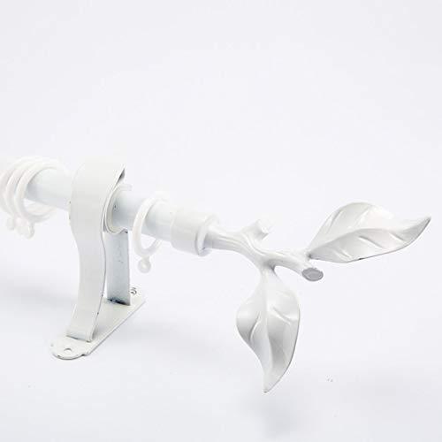 BLSTY aluminiumlegering gordijnroede, 1 loper, standaard wanddrager, gordijnroede met driehoekige structuur, met eindkap voor ramen, deuropening, douchegordijnstang