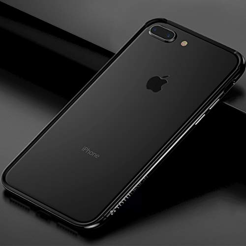 YIHUI Funda Protectora Hace 7 Plus TPU + PC Dropproof Tope Protector del Marco iPhone y 8 Plus (Color : Silver)