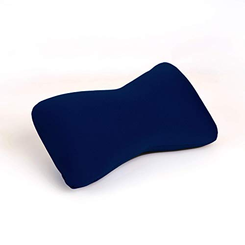 Cushie Pillows 11 inches x 8 inches x 6 inches Microbead Bolster Squishy/Flexible/Extremely Comfortable Pillow - Navy Blue