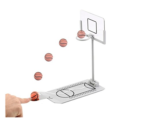 Avtion Basketball Game, Mini Desktop Tabletop Portable Travel or Office Game Set