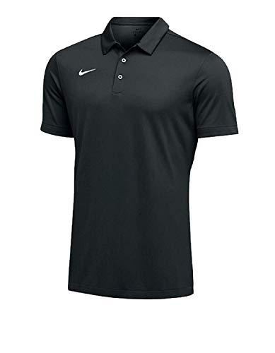 Nike Mens Dri-FIT Short Sleeve Polo Shirt (X-Large, Black)