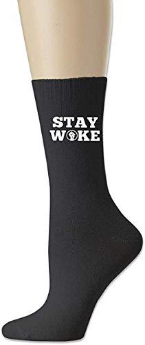 HNJZ-GS Stay Woke Herren Casual Baumwollsocken Crazy Crew Socks Dress Socks