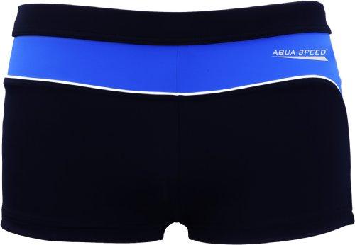 Aqua Speed Retro Badehose Herren eng kurz | Triathlon Schwimmhose für Männer | sportliche UV Schwimmbekleidung | Coole Beachwear Wasserball | Schnorcheln | 42 hellblau - blau, Gr. XL | Grant