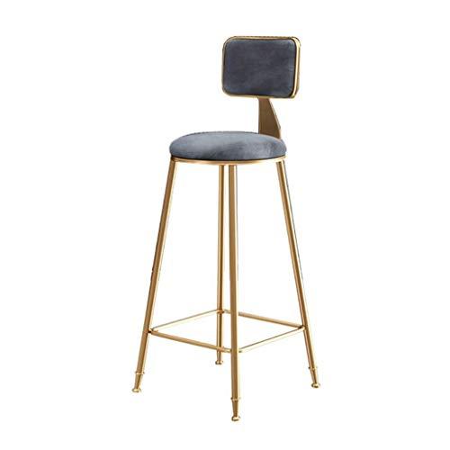 QJY barkruk en barkruk met gouden metalen poten en een ergonomische stoel ontbijt barkruk voor bar cafe
