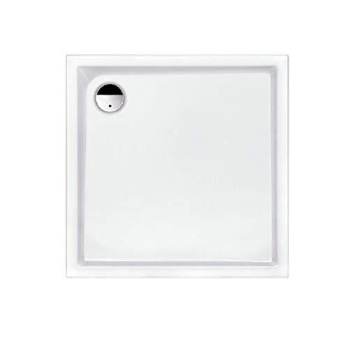 Acryl-Duschwanne 90x90x2,5cm superflach Brausewanne Duschtasse weiß