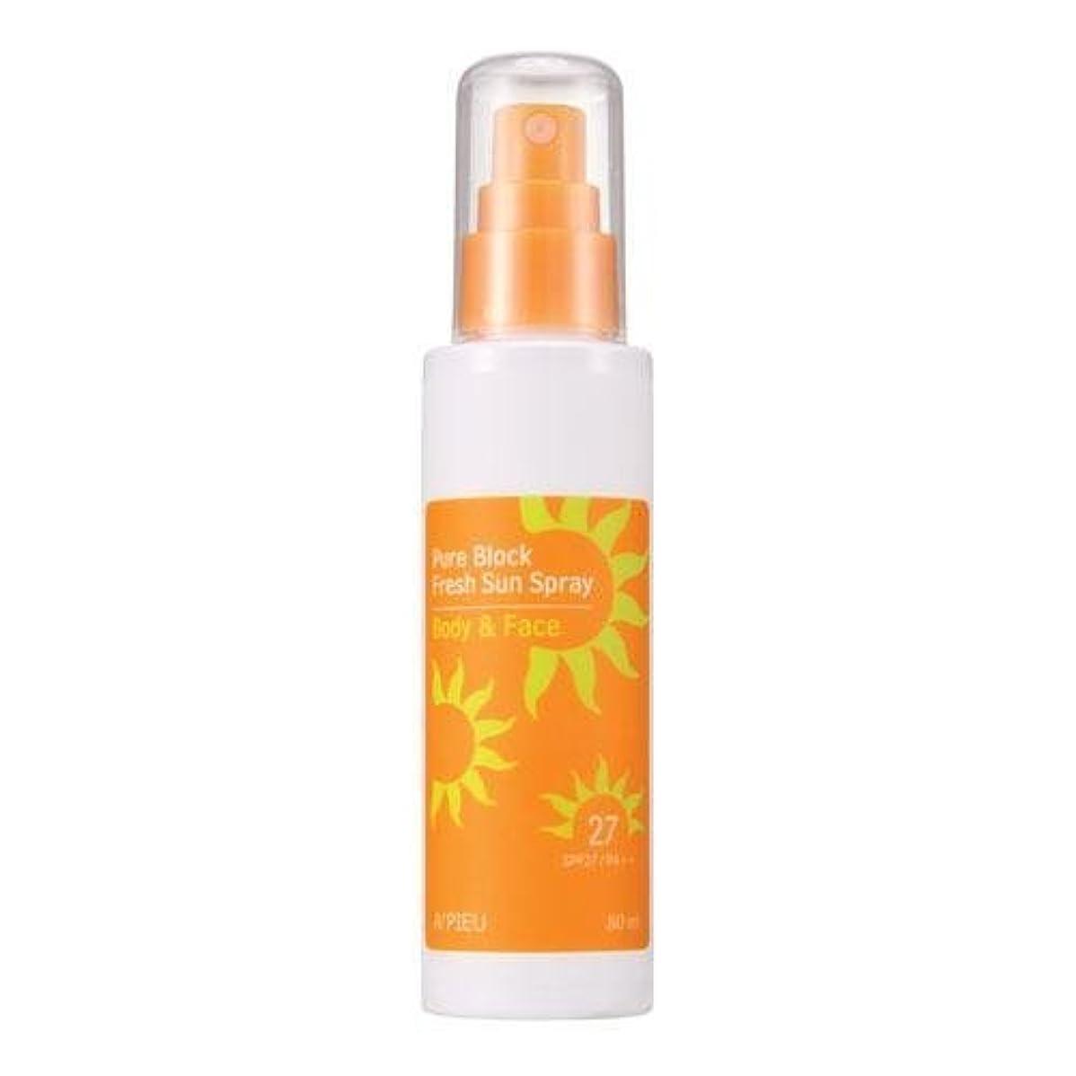 はげ生産性結紮APIEU Pure Block Fresh Sun Spray (SPF27,PA++) [Korean Import]