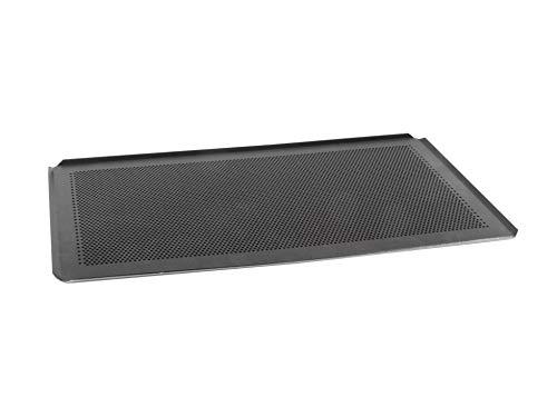 AMT Gastroguss GN 1/1 Backblech - Set, 53 x 32,5 cm, gelocht, beschichtet, Aluminiumguss, Lotan® Antihaft-Beschichtung, bestehend aus 2 Backblechen AMZN-5333BBL-1