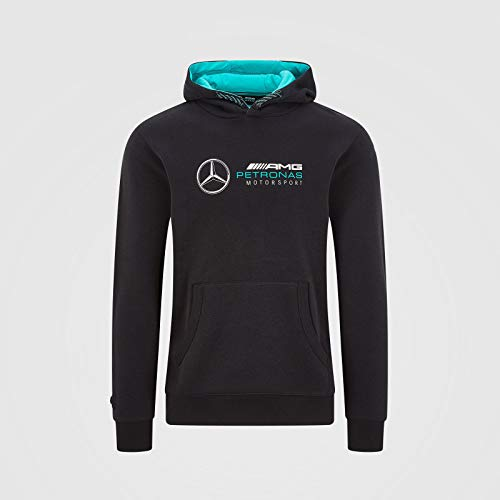 Mercedes-AMG Petronas Herren Team Sweatshirt Hoodie, Herren, schwarz, Large
