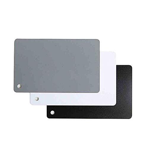 Schwarz-Weiß-Grau-DREI-Farben-Grau-Karte Weißabgleich-Karte 18-Grad-Fotoblech-Dosierkarton - Schwarz-Weiß-Grau