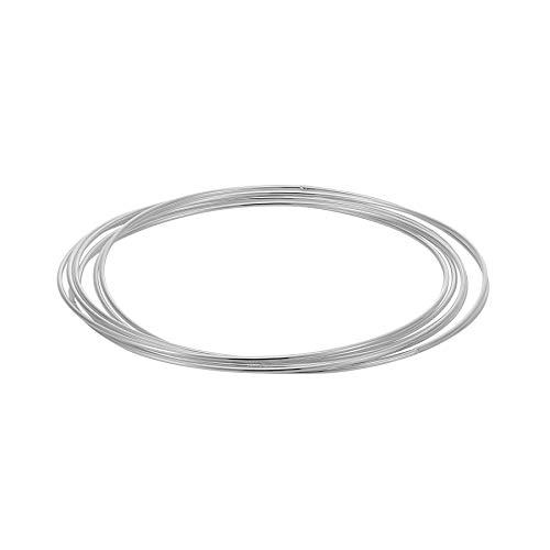 Silverly Frauen .925 Sterling Silber Sieben 7 Russische Art Die Dünnes Band Armreif Armband