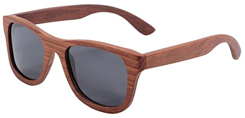 SHINU Woody Bambus Vayfarers Polyarized Flush Spiegel-Objektiv-Sonnenbrille vith Hour-Z6016 (red scandalwood)
