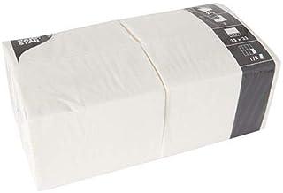 Papstar Servetten / tissueservetten wit (250 stuks) 33 x 33 cm, drielaags, 1/8-vouw, ideaal voor gastronomie, huishouden o...