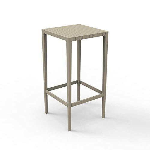 Vondom Spritz table haute pour l'extérieur 50x50 h.100 cm écru
