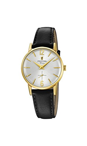 Festina Damen Analog Quarz Uhr mit Leder Armband F20255/1