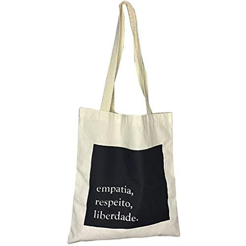 Ecobag Bolsa de Praia Empatia Sacola Ecológica Feminina de Ombro