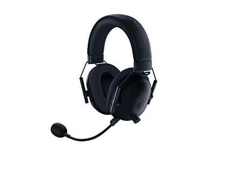 Razer BlackShark V2 Pro Wireless Gaming Headset: THX 7.1 Spatial Surround Sound - 50mm Drivers - Detachable Mic - for PC - 3.5mm Headphone Jack - Black