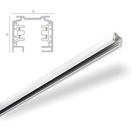Nachfolgermodell verf/ügbar 1001517 EUTRAC L/ängsverbinder f/ür 3-Phasen HV-Schiene wei/ß