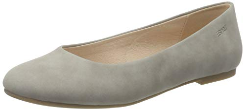 ESPRIT Damen 031EK1W326 Ballerinas, 040/LIGHT Grey, 39 EU