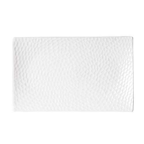 Table Passion - Plat rectangle porcelaine blanche 41x25cm