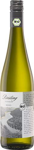 Bio mit Gesicht Weißwein Riesling trocken Qualitätswein von der Mosel, Deutschland (1 x 0.75 l)