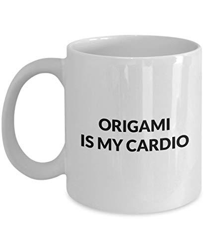 N\A Origami-Tasse - Origami ist Meine Cardio - weiße Keramik-Kaffeetasse