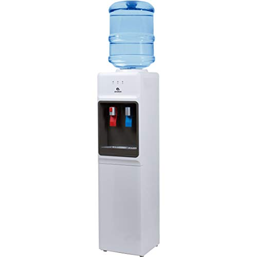 Avalon A1WATERCOOLER A1 Top Loading Cooler Dispenser, Hot & Cold Water, Child Safety Lock, Innovative Slim Design, Holds 3 or 5 Gallon Bottles-UL/Energy Star Approved, White
