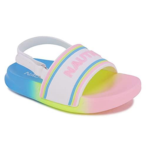 Nautica Kids Toddler Athletic Slide Pool Sandal  Boys - Girls  Toddler- Little Kid-Luz Toddler-Bright Rainbow-7