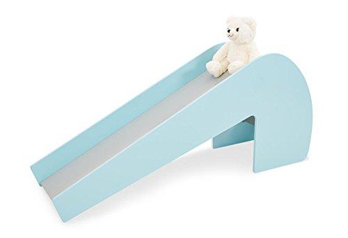 Pinolino Indoor-Rutsche Lotta aus Holz, Belastbarkeit 60 kg, mit 2 Augenaufklebern, für Kinder ab 3 Jahren, mint/grau