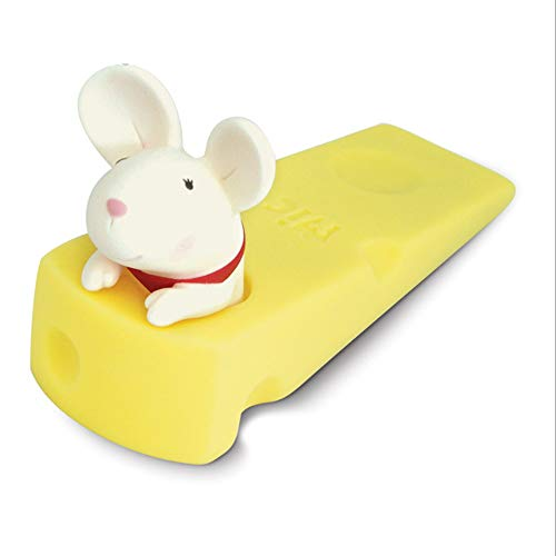 JJDD - Tope para puerta de perro, color blanco para el ratón,...