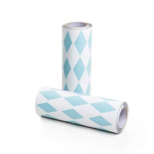 JIALONGZI aluminiumfolie zelfklevende tape DIY keuken anti-olie en meeldauw waterdichte behangsticker kasten werkbladen Sticker 3.7 cm Blauw