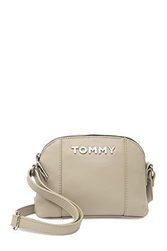 Tommy Hilfiger Tasche - Grau - Crossbody - Umhängetasche - Schultertasche - 16x18x5cm - TH Logo - Damenhandtasche 6404