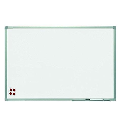 Pizarra Rocada doble cara lacada blanca con marco de aluminio 120x90