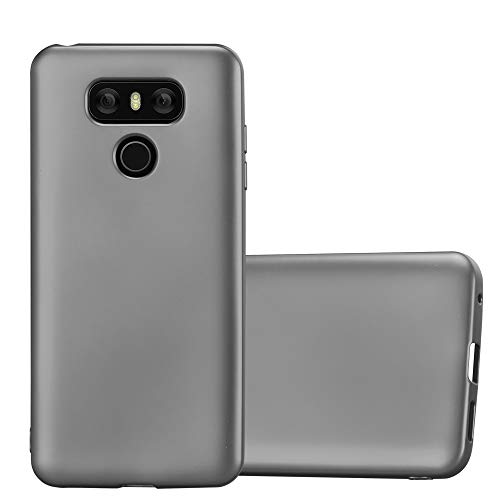 Cadorabo Funda para LG G6 en Metallic Gris - Cubierta Proteccíon de Silicona TPU Delgada e Flexible con Antichoque - Gel Case Cover Carcasa Ligera