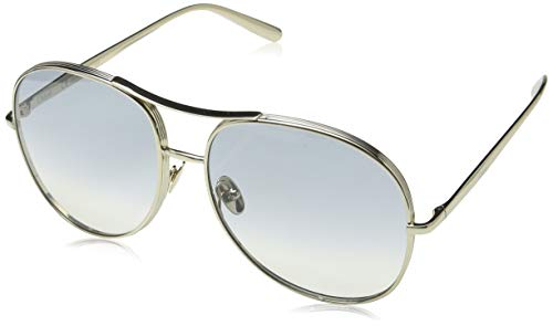 CHLOÉ CE127S CHLOE Sonnenbrille CE127S 768 Aviator Sonnenbrille 61, Silber