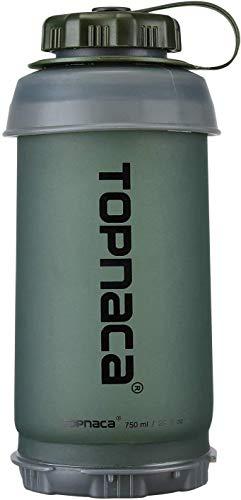 Topnaca Botella de agua plegable plegable de 750 ml/2,9 oz BPA Gratuito reutilizable oculto, plegable, ligera, compacta para camping, senderismo, escalada, viajes de actividades al aire libre