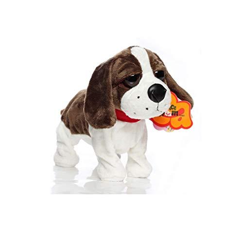 WJTMY Roboter-Spielzeug-Hund elektronisches Hundespielzeug, Plüsch Stofftier Hundespielzeug, Interactive Puppy Plüsch Animated Dog (Color : A)