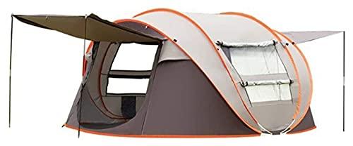Tienda portátil TENTPIO A prueba de lluvia Cuenta Tirado a mano Libre para configurar una tienda de campaña de apertura rápida Camping al aire libre 3-4 personas Tienda de campaña automática para el r