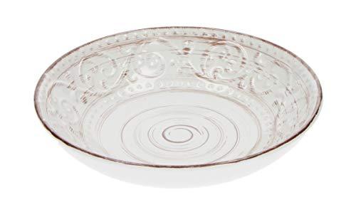Brandani 55961 Serendipity Steinzeug Suppenteller, Durchmesser 20 cm, Weiß