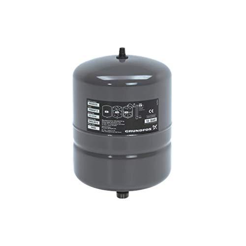 Tanque de presión, modelo GT-H-8 PN10 G 3/4 V, depósito de 8 litros, instalación vertical, presión máxima 10 bar, 21 x 21 x 34 centímetros (Referencia: Grundfos 96528335)