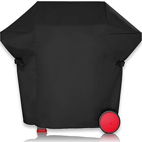 AMZBBQ Premium Grillabdeckung, wasserdichte Grillhaube für Ihren Gasgrill, 100% Wetterfeste und UV-beständige Grillplane, Hochwertige Polyester Grill Abdeckhaube mit PU-Beschichtung (M)