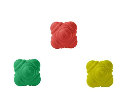 GSi Bounce Reaction Balls for Agility Reflex and Coordination Training (72 mm) (Pack of 3)
