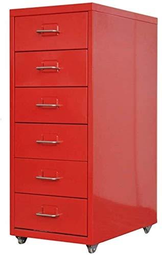 Carpeta Cajón Archivo Gabinete bajo Gabinete A4 Mueble de Almacenamiento Escritorio Datos móviles Metal Gabinete Archivo Actividad Armario (Color : Red, Size : 0.8mm)